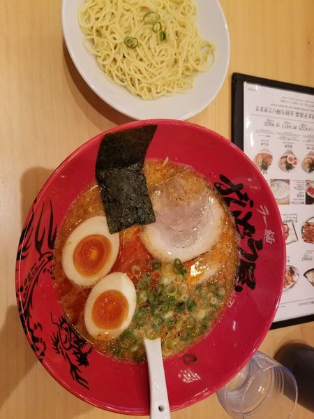 「味玉ラーメンちぢれ麺 替え玉」@ラー麺 ずんどう屋 大和中央林間店の写真