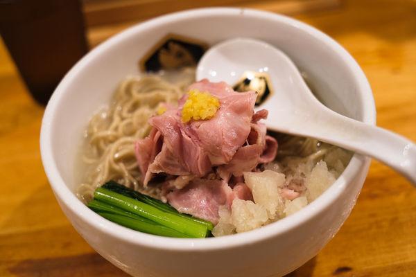 「特製冷やし縞鯵らーめん」@真鯛らーめん 麺魚の写真