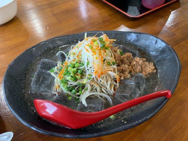 「冷やし黒胡麻坦々麺」@ラーメンてつ 埼玉蓮田支店の写真