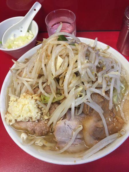 「小ラーメン豚増し白ネギ」@ラーメン二郎 西台駅前店の写真
