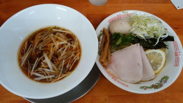 「【限定】今日の昆布水つけ麺¥990-+神志トッピング¥280」@栃木中華そば 神志の写真