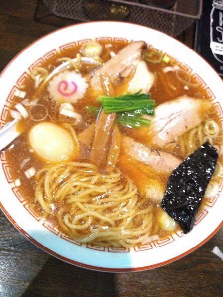 「生姜醤油らぁめん 750円 味玉(CP)」@新潟長岡らぁめん 安ざわ食堂の写真
