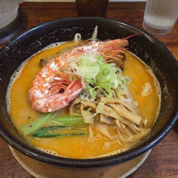「海老味噌麺 半麺 980」@麺屋 空海 海浜幕張店の写真