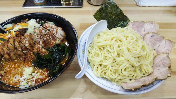 「野菜味噌つけ麺¥780+大盛り&トッピング」@麺工房マルオの写真