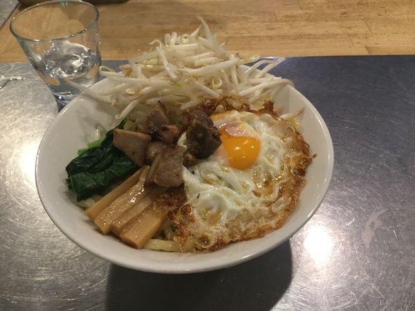 「汁なし(¥800)」@つけ麺・汁なし専門店 R 中村店の写真