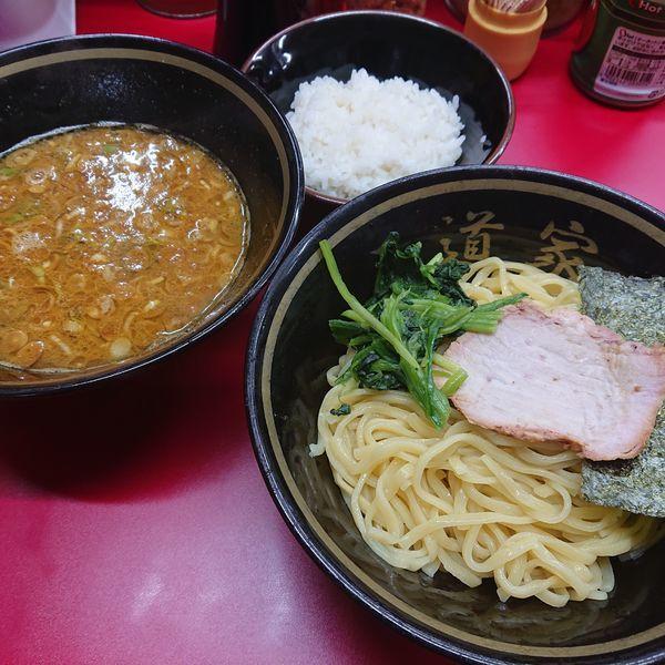 「カレーつけ麺680円中辛、半ライス60円」@家系ラーメン 王道家の写真