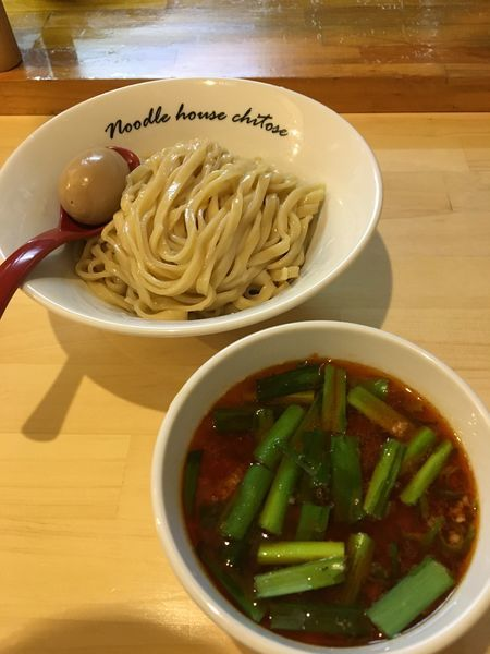 「【限定】台湾つけ麺+煮玉子」@麺庵ちとせの写真