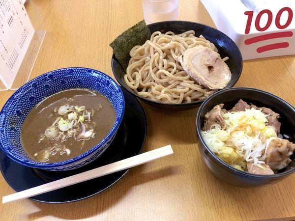 「つけ麺 ミニチャーシュー丼」@らーめん にい村の写真