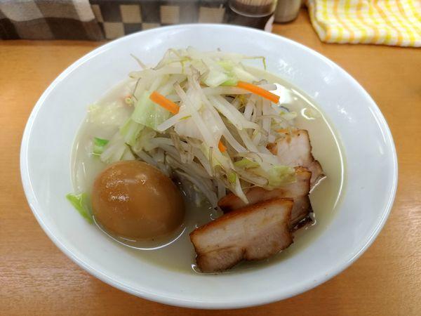 「鶏ぶた塩タンメン+半熟味玉」@富白 御徒町本店の写真