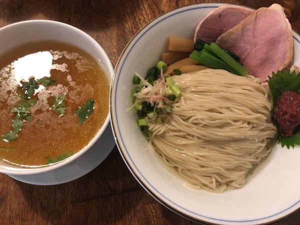 「梅塩つけ麺200g850円」@らーめん 奏と伍の写真