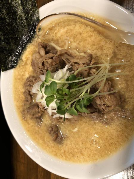 「かき卵醤油らぁ麺 麺150g 600円」@Soupmenの写真