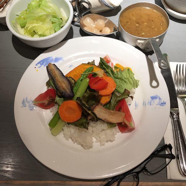 「冷やし野菜カレー」@おまかせ亭の写真