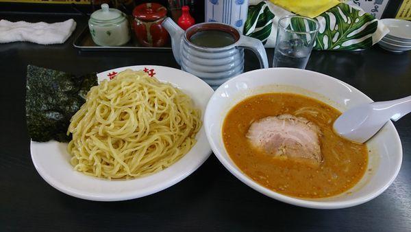「味噌つけ麺 大盛 +餃子」@萬馬軒 諏訪店の写真