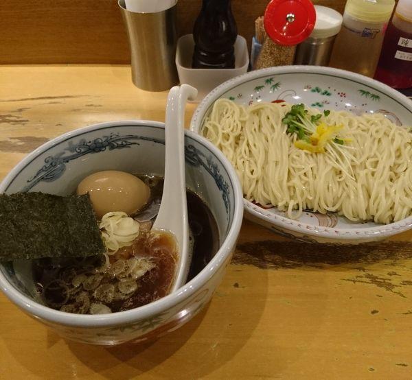 「つけ麺 醤油 大盛 半熟味付玉子」@らーめん いまるやの写真