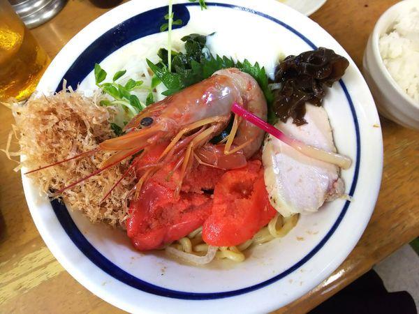 「海老&明太子和え蕎麦B海老W明太W+タルタル 2000円」@MENYA 食い味の道有楽の写真