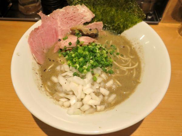 「濃厚牡蠣煮干そば 950円」@麺屋 まほろ芭の写真