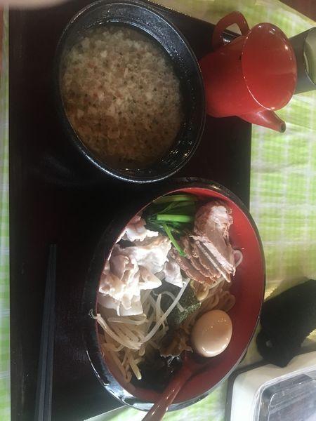 「イツワつけ麺+味玉+チャーシュー」@イツワ製麺所食堂の写真