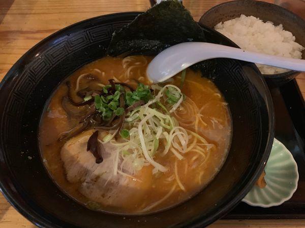 「辛みそラーメン ランチ時ご飯付き750円」@ラーメン ありゅうの写真