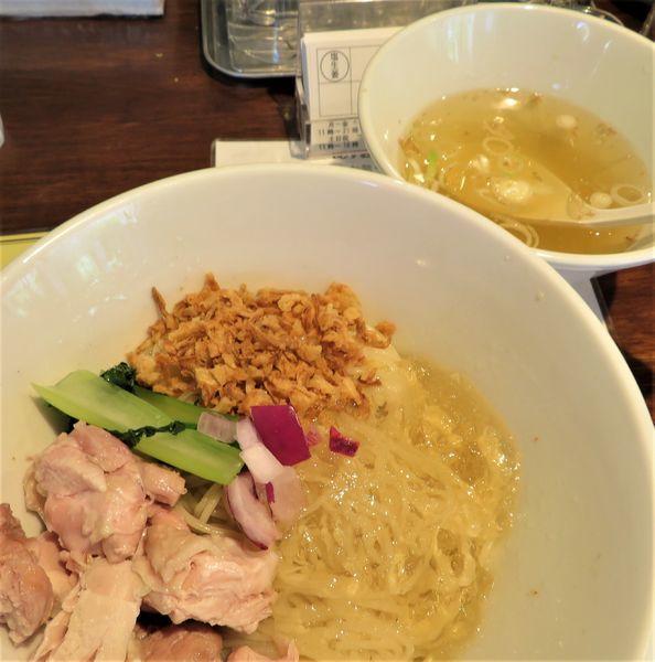 「【限定】冷たい塩生姜油そば(1,000円)」@塩生姜らー麺専門店MANNISHの写真