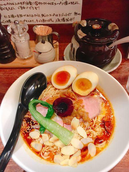 「海老丸冷やし坦々麺(限定)燻製卵」@海老丸らーめんの写真