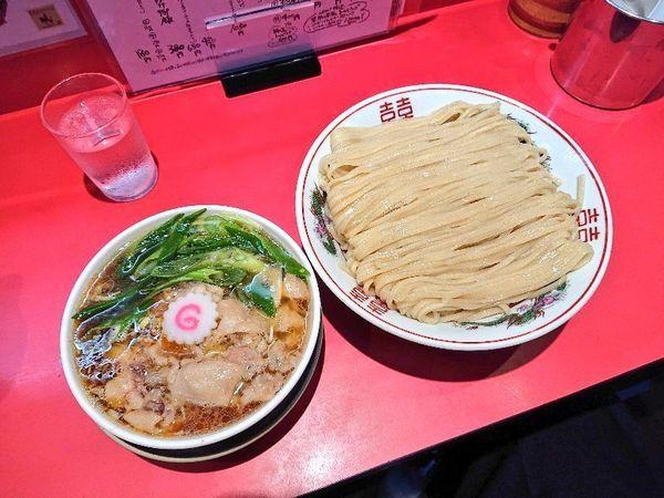 「つけそば(大)+豚足トッピング」@カドヤ食堂 本店の写真