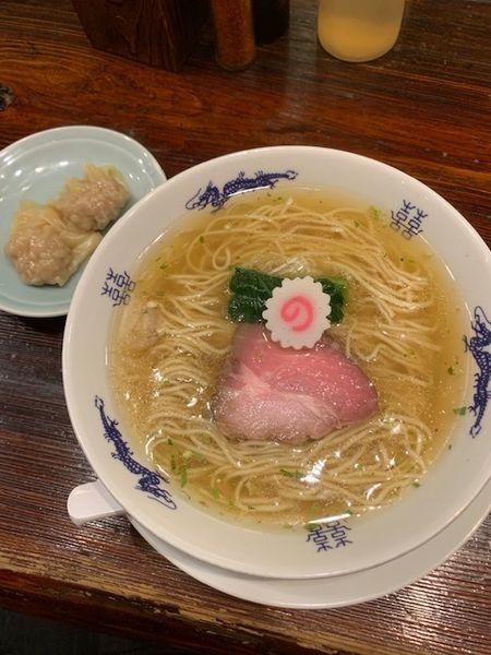 「山椒そば 800円 肉ワンタン2個100円」@中華蕎麦にし乃の写真