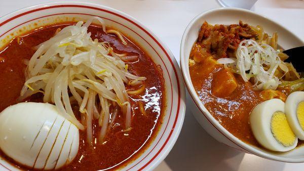 「半北極ラーメン&半蒙古丼❗880円」@蒙古タンメン 中本 柏店の写真