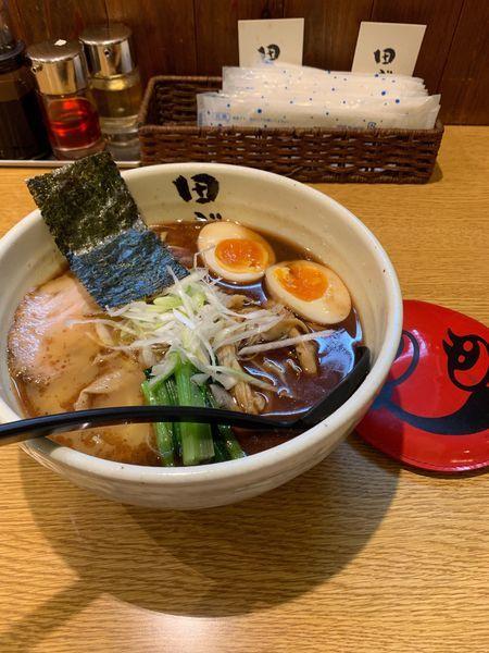 「田ぶし味玉らーめん」@麺処 田ぶし 横浜店の写真
