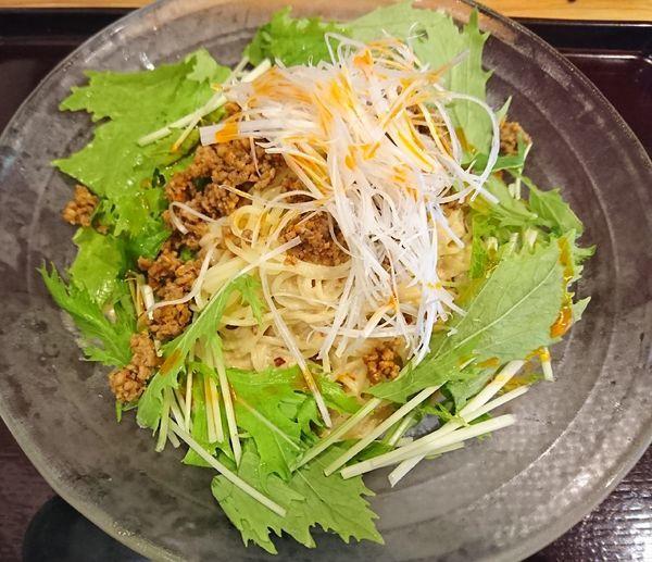 「冷やし豆乳担々麺(900円税別)」@中華酒菜 たなかの写真
