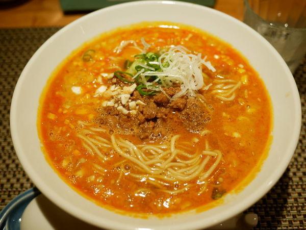 「もち豚の肉味噌担々麺」@生粋 花のれんの写真