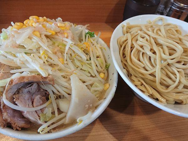 「なみのりつけ麺+豚」@ラーメン二郎 八王子野猿街道店2の写真