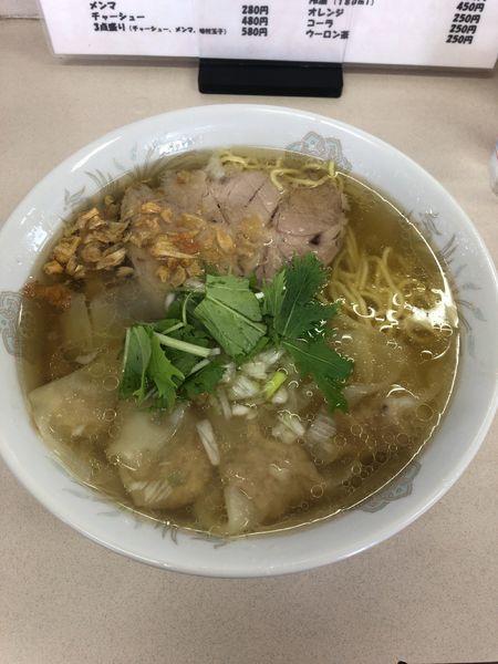「塩ワンタンメン 830」@支那そば一麺 下広岡店の写真