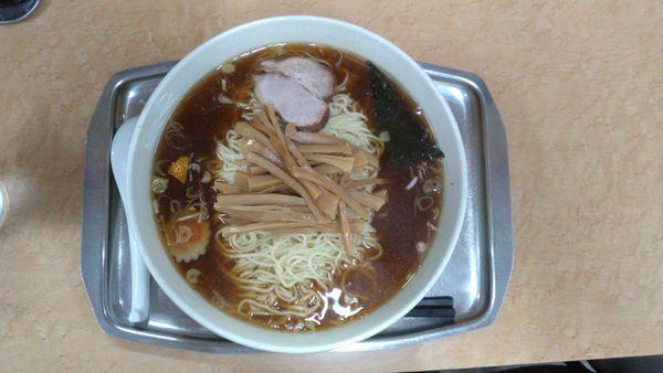 「メンマ入りそば+大盛り(麺かため)」@一ノ割大勝軒の写真