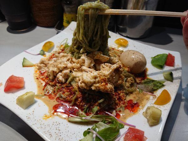 「【限定】豆乳仕立ての冷製豚しゃぶ担々麺850円+ライス」@中華蕎麦 瑞山(ZUIZAN)の写真