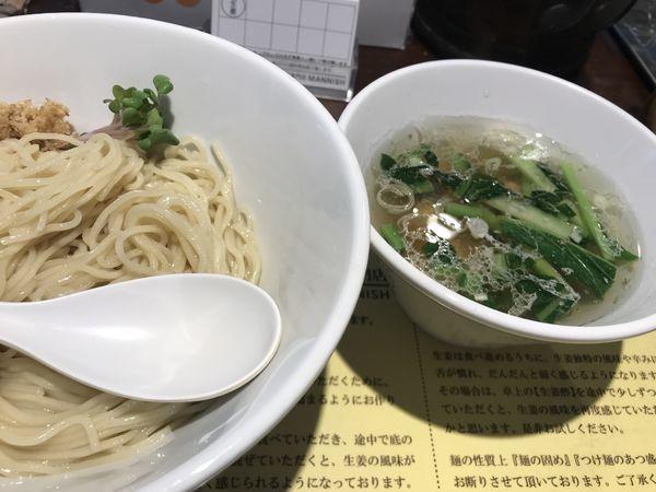 「塩生姜つけ麺 950円」@塩生姜らー麺専門店MANNISHの写真