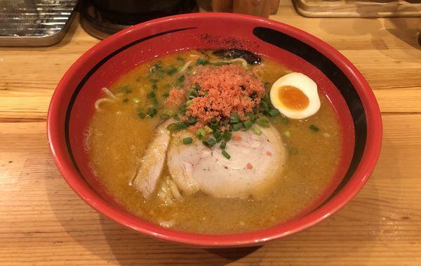 「えびみそ そのまま 太麺」@えびそば一幻 新宿店の写真