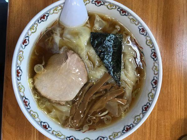 「ワンタン麺 1,250円」@春木屋 荻窪本店の写真