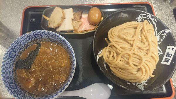 「濃厚つけめん+トッピング全部」@松戸富田麺絆の写真