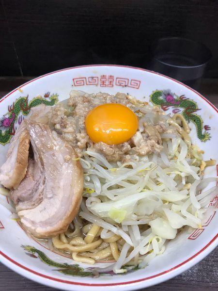 「小豚汁なし(アブラ)」@ラーメン二郎 横浜関内店の写真
