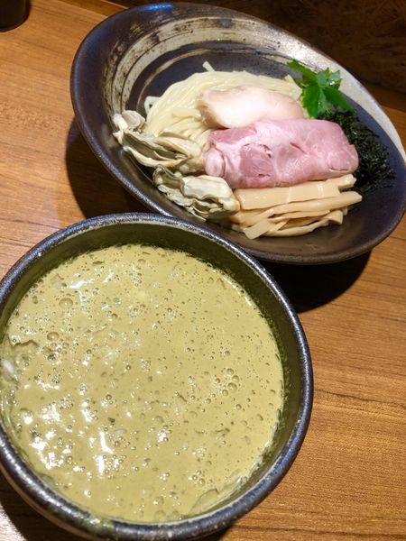 「どろどろカキつけそば¥950+大盛り¥100+飯割り¥110」@寿製麺よしかわ 川越店の写真