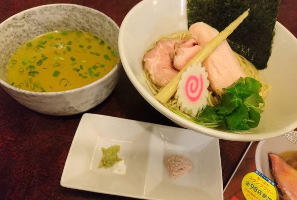 「天草大王と鯛煮干し濃厚昆布水のつけ麺(塩)」@麺匠えにしの写真