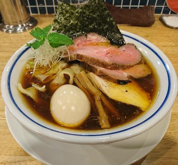 「特製中華そば+ワンタン(1180円)」@手打式 超多加水麺 ののくらの写真