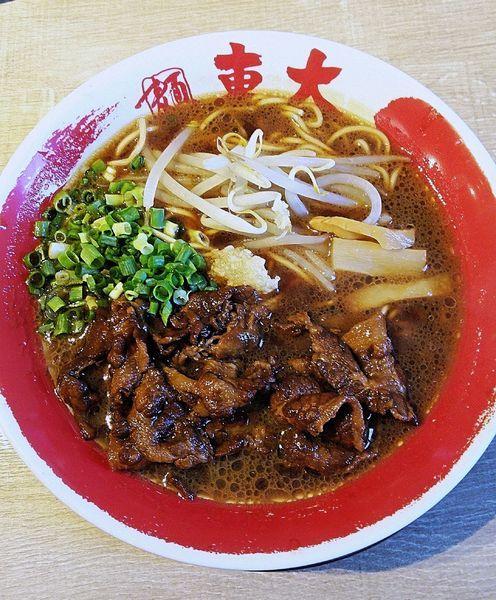 「醤油とんこつラーメン 肉増し 840円」@ラーメン東大 天白店の写真