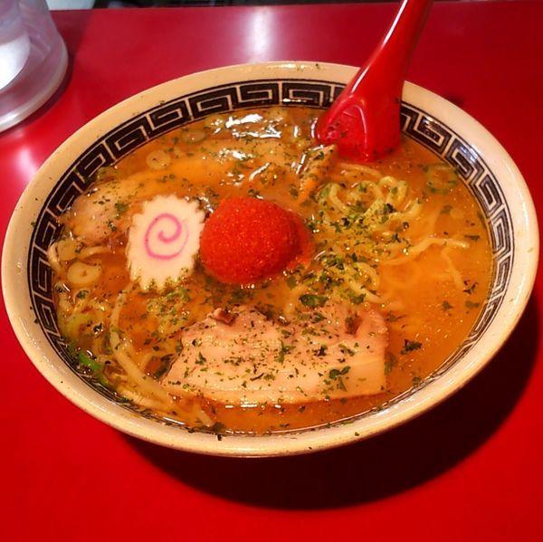 「赤湯からみそラーメン(大盛)」@龍上海 米沢店の写真