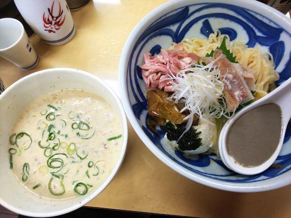 「【限定】豆乳と煮干の坦々つけ麺 赤魚の粕漬け添え 990円」@中華そば よしかわの写真