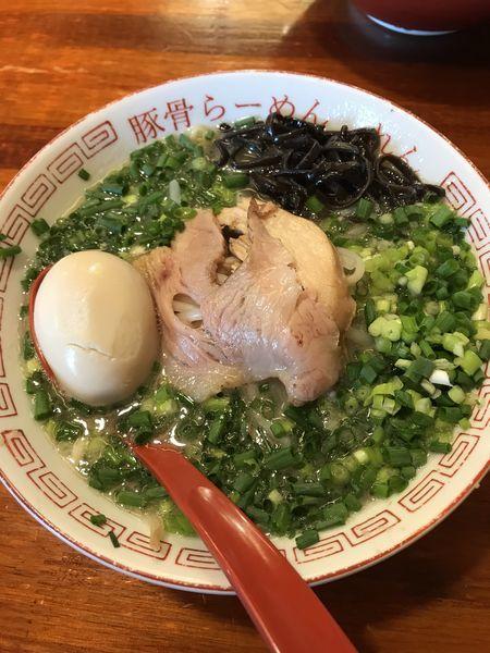 「博多ネギらーめん+替玉(¥900)」@豚骨らーめん れんの写真