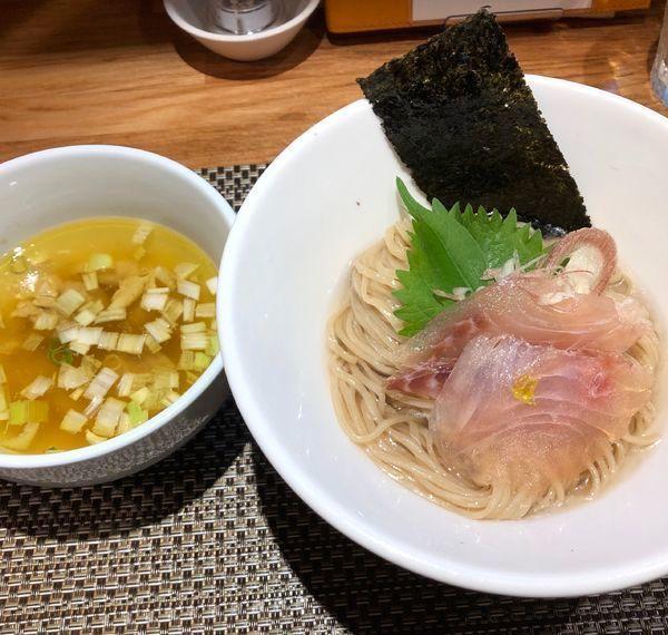 「[夏季限定] 鯛昆布水つけ麺(塩で)¥1500」@生粋 花のれんの写真