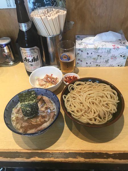 「つけ麺半チャーシュー」@くり山の写真