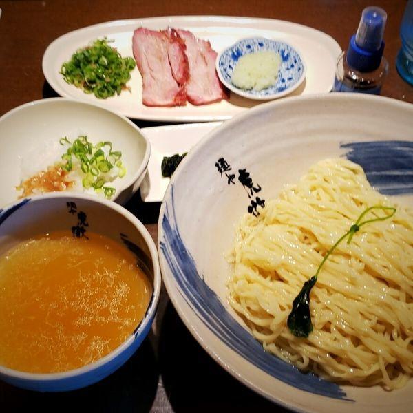 「【数量限定】薬涼 潮つけそば(大盛) 1000円」@麺や 虎徹の写真