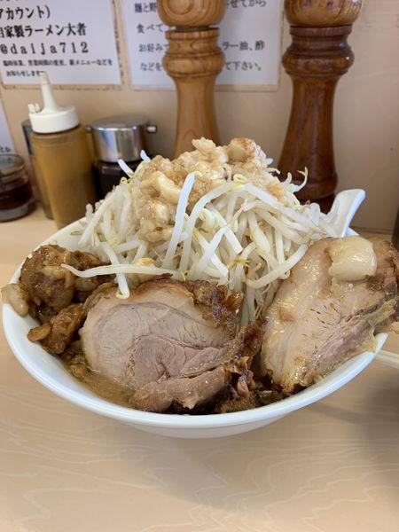 「ラーメン麺少なめ」@自家製ラーメン 大者の写真